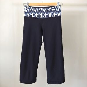 Lululemon Groove Crop Pants Reversible Ikat Size 2